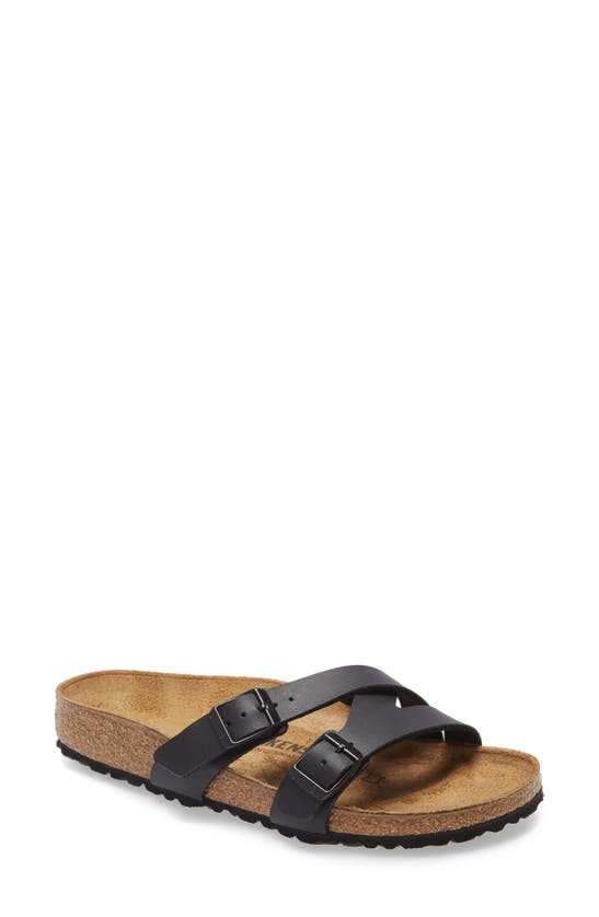 Birkenstock Yao Slide Sandal In New Black