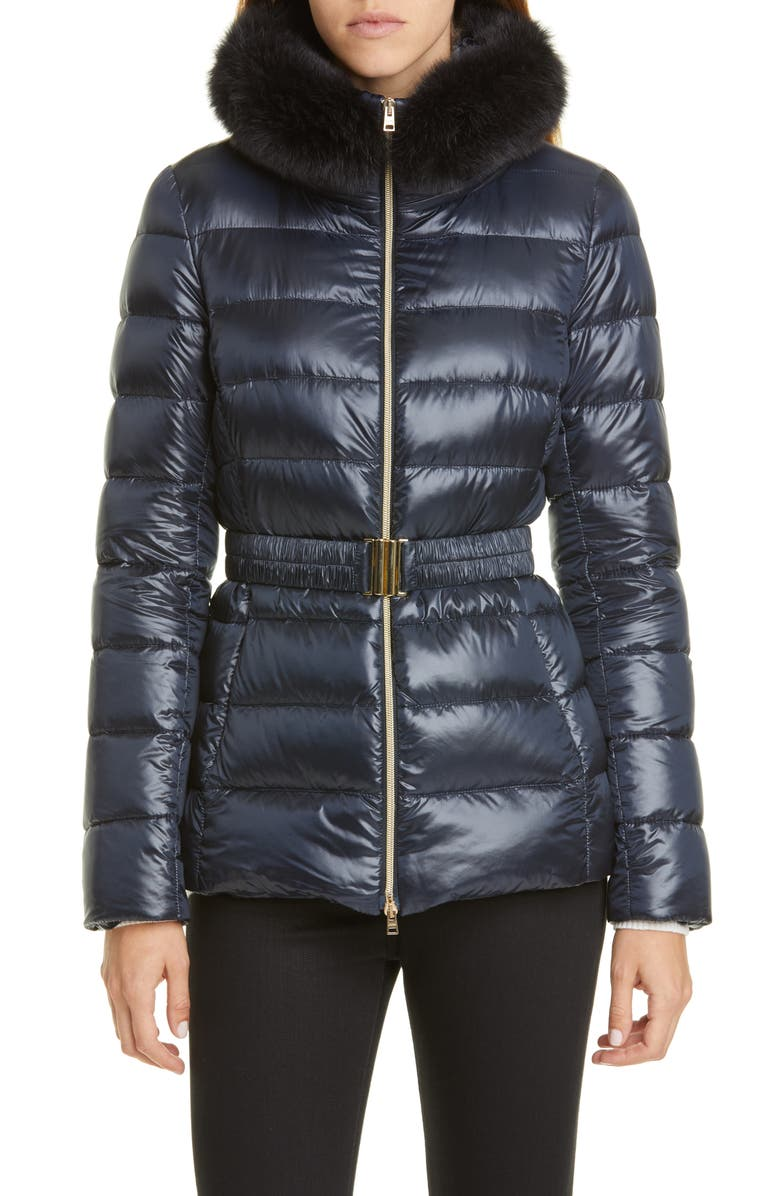 Claudia Down Jacket With Genuine Fox Fur Trim by Herno