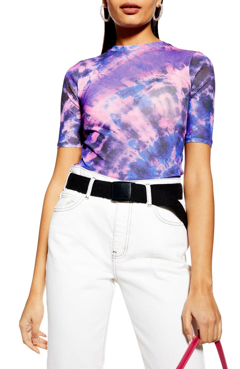 TOPSHOP Tie Dye Tee, Main, color, 500