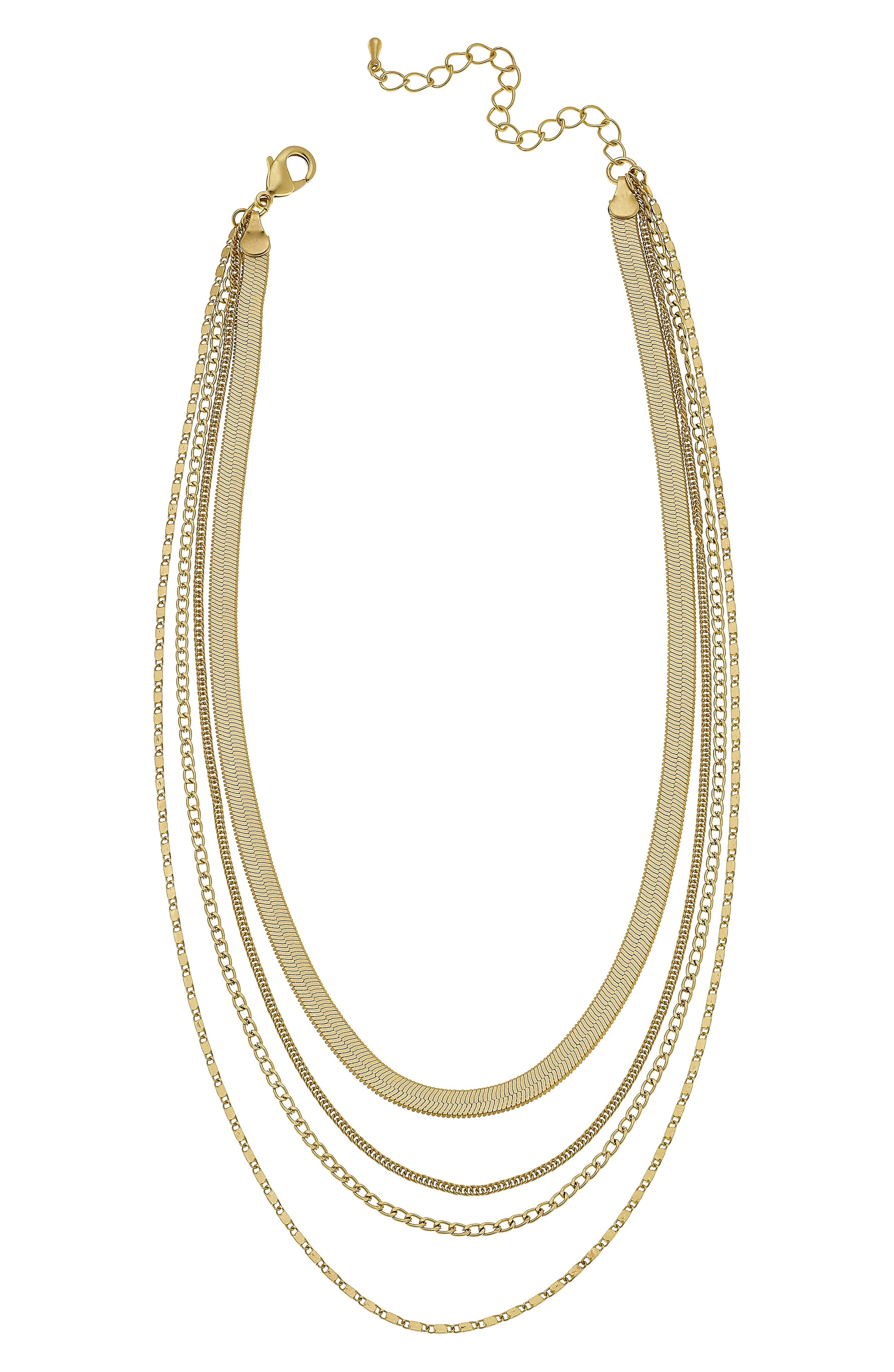 Allura Multi Chain Layered Necklace