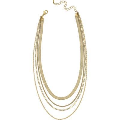 Canvas Jewelry Allura Multi Chain Layered Necklace