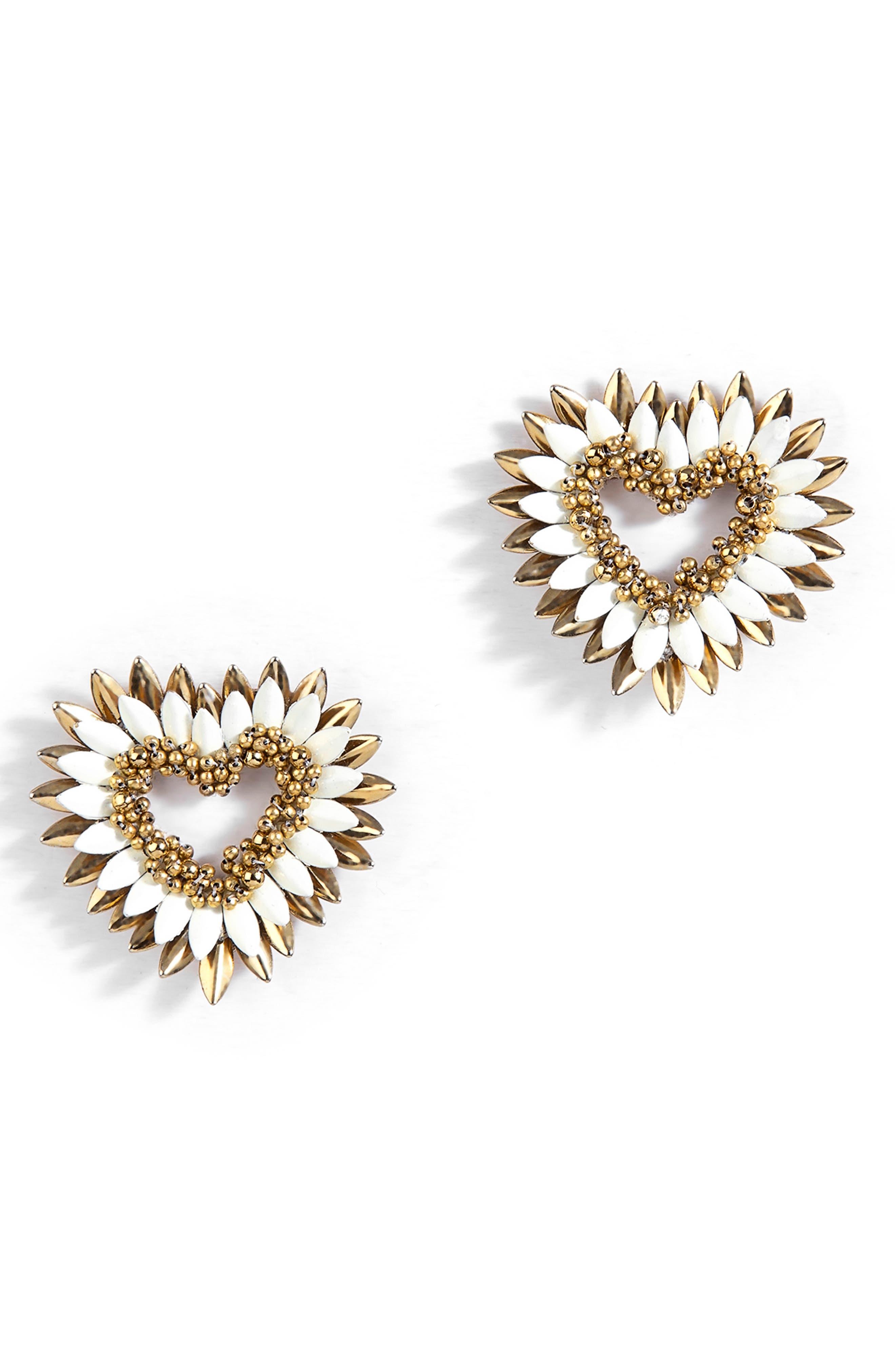 Emerson Fringe Heart Earrings