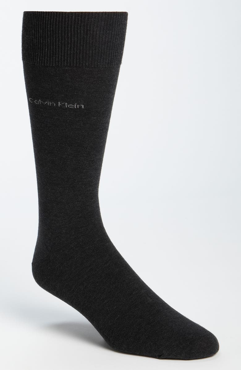 CALVIN KLEIN Giza Crew Socks, Main, color, GRAPHITE HEATHER
