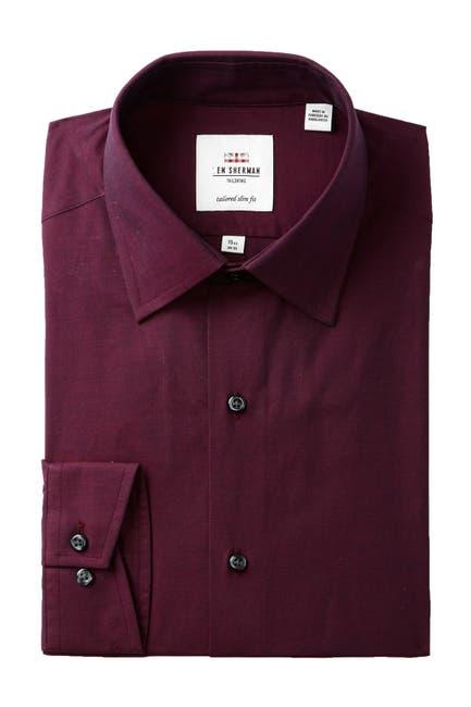 Image of Ben Sherman Tonic Poplin Florentine Tailored Slim Fit Dress Shirt