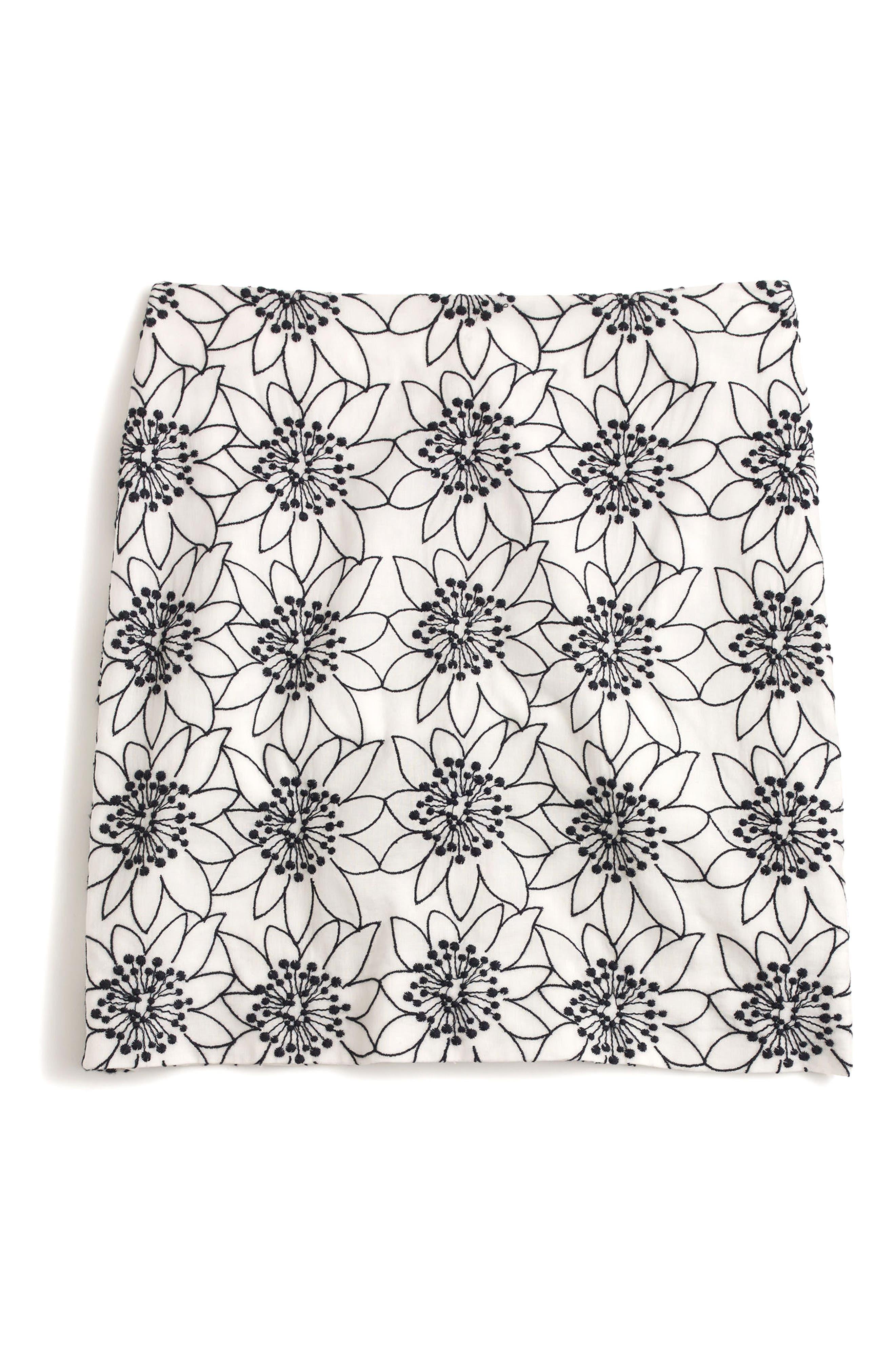 ,                             Embroidered Floral Miniskirt,                             Alternate thumbnail 4, color,                             900
