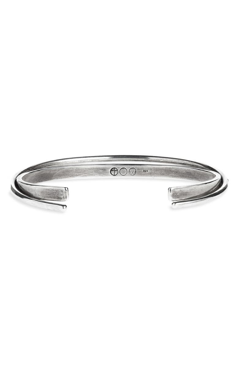 TITLE OF WORK Hinged Cuff Bracelet, Main, color, SILVER