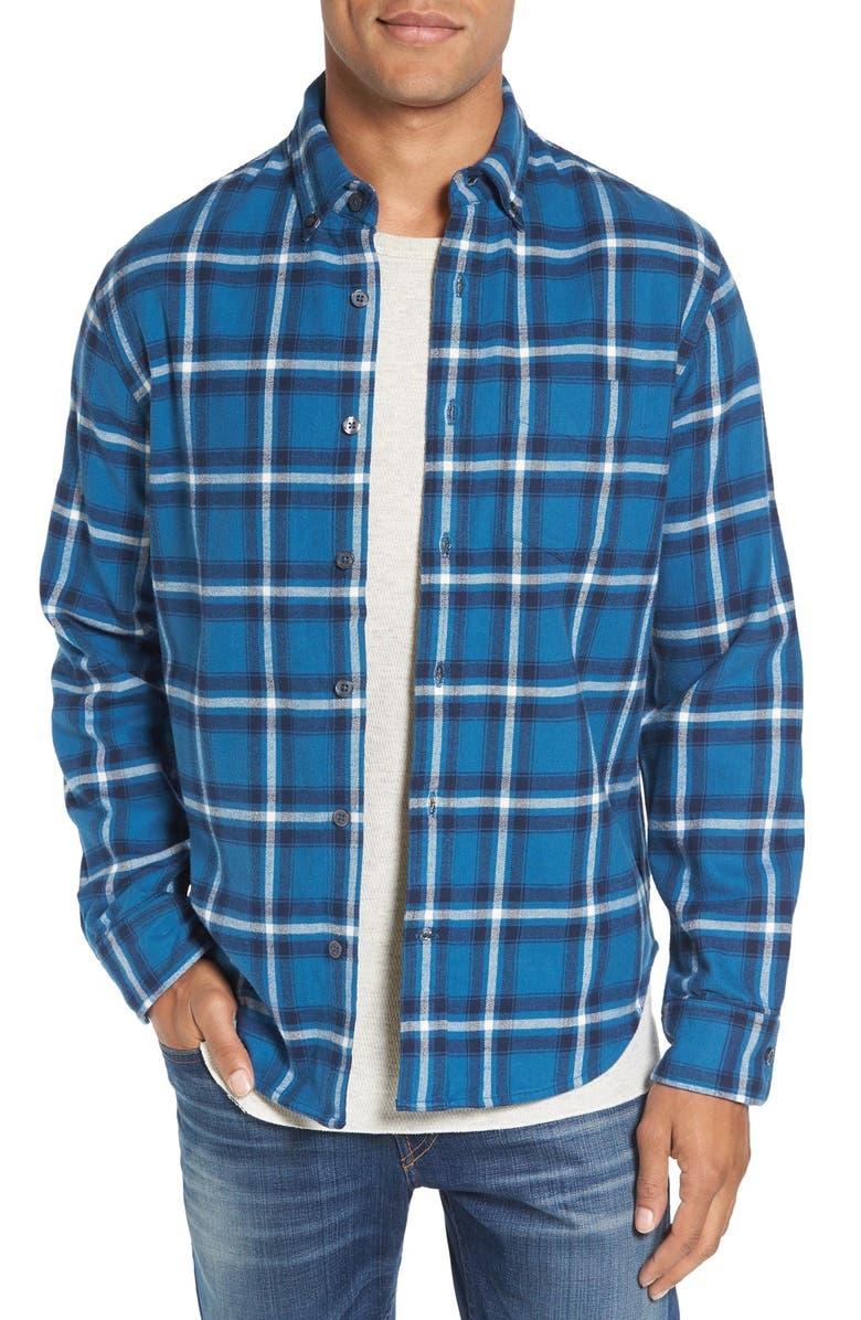 RELWEN Double Faced Plaid Flannel Shirt, Main, color, 461