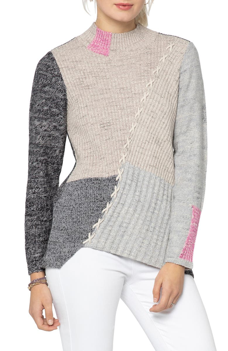 NIC+ZOE Star Player Sweater, Main, color, 020