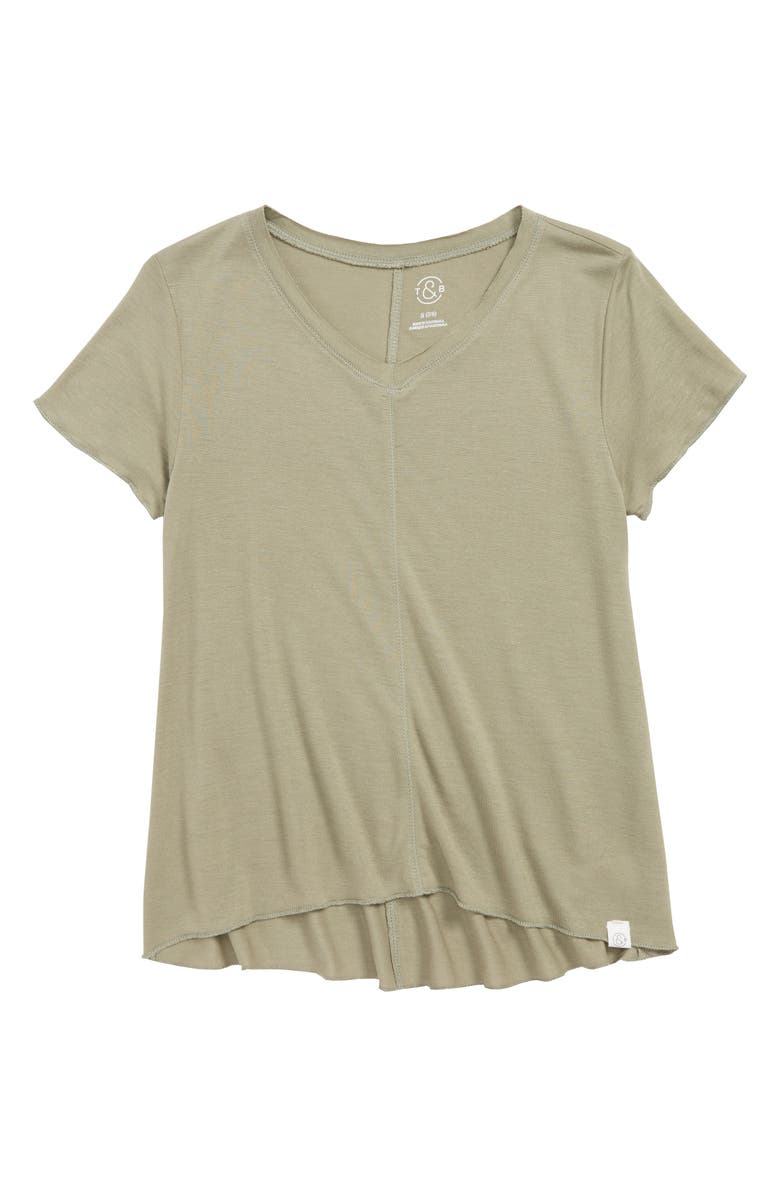 TREASURE & BOND Easy Swing Tee, Main, color, GREEN VETIVER