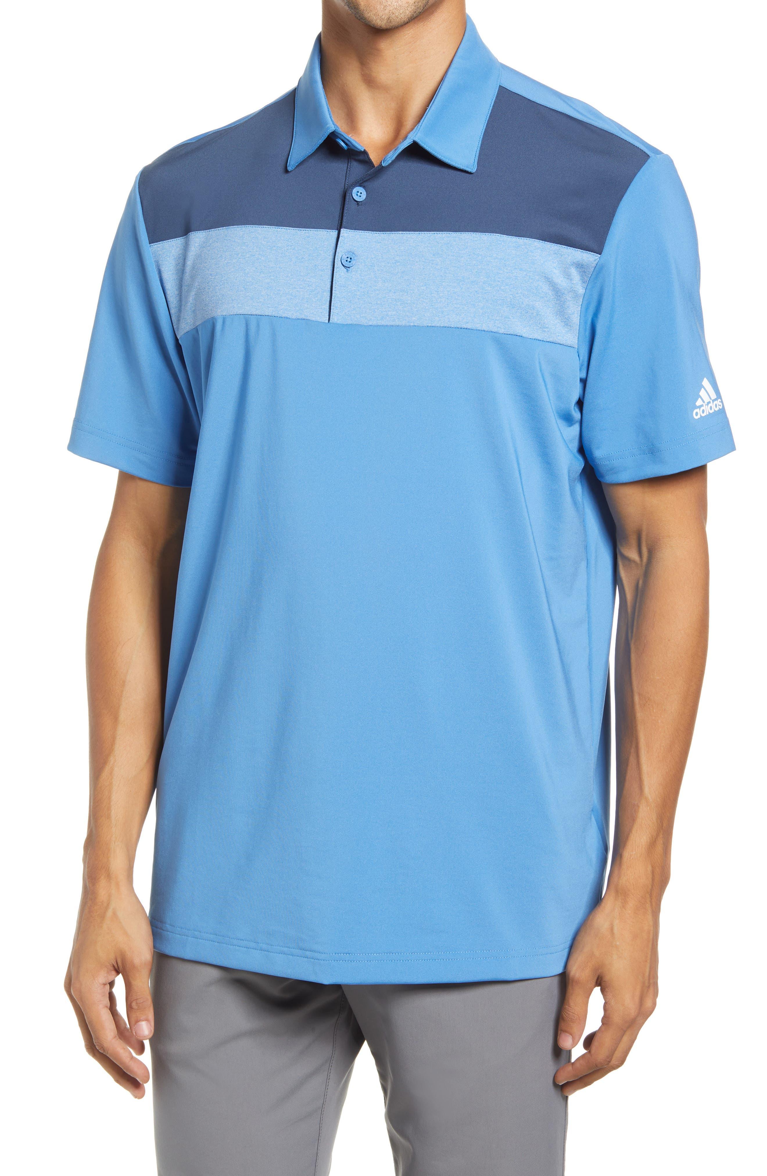 Men's Stretch Colorblock Polo Shirt