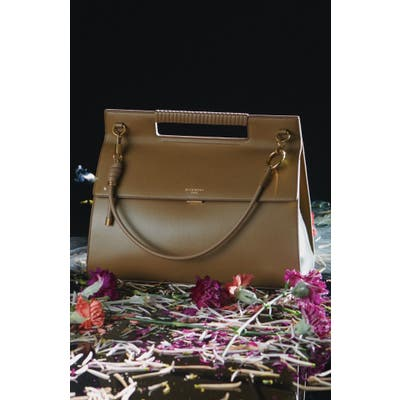 Givenchy Whip Large Leather Satchel - Beige