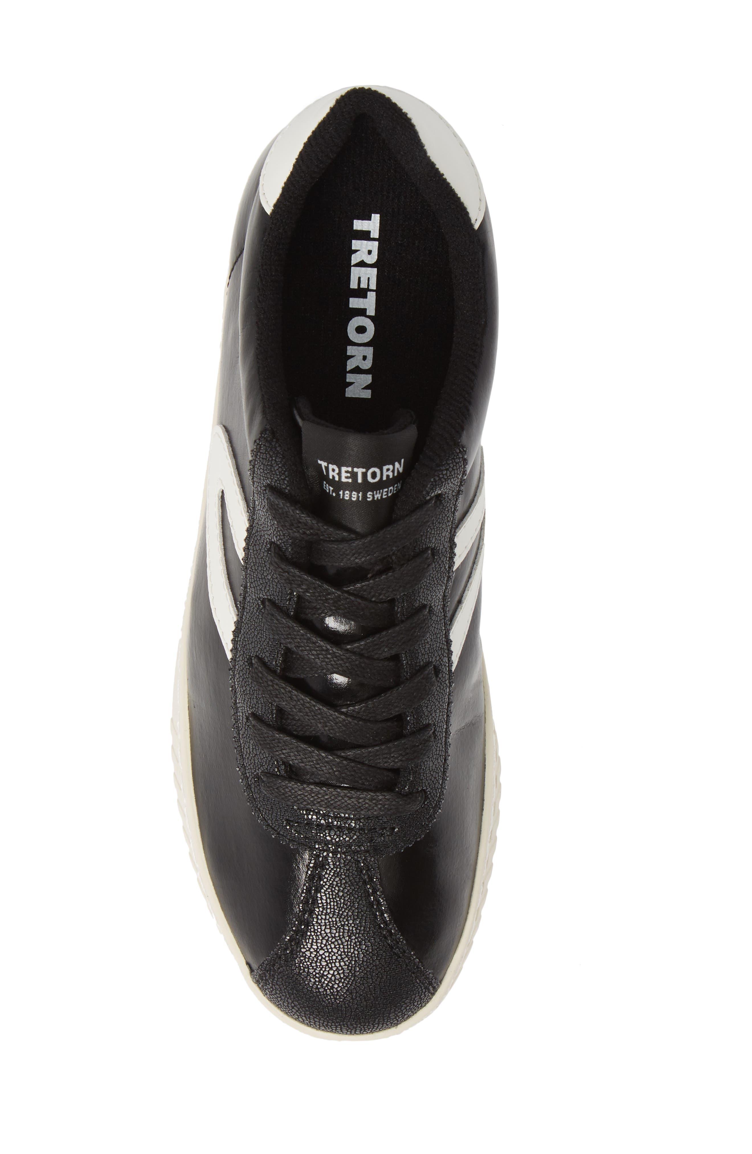 ,                             Callie 5 Sneaker,                             Alternate thumbnail 5, color,                             BLACK/ VINTAGE WHITE FABRIC