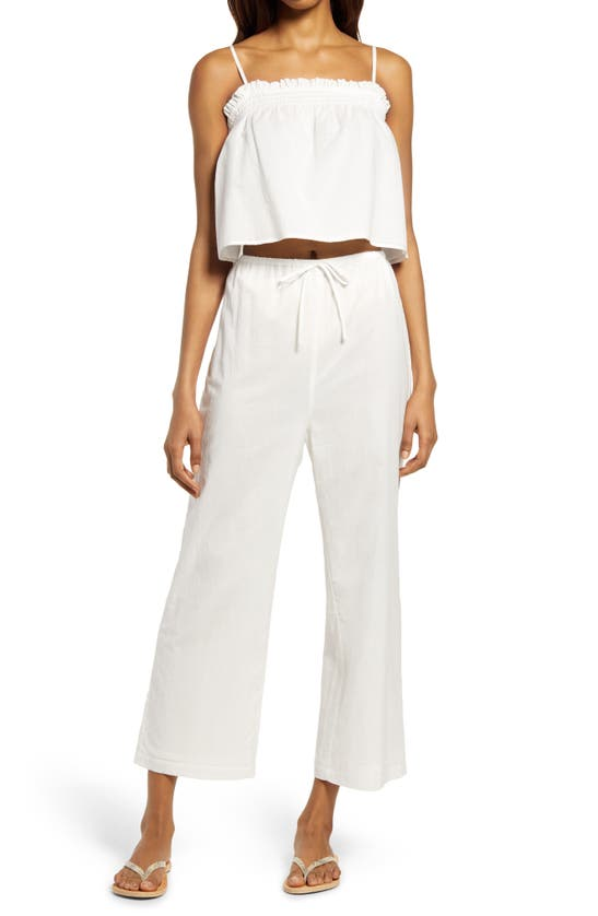Reformation Cottons TANAGER CAMISOLE & WIDE LEG PANTS
