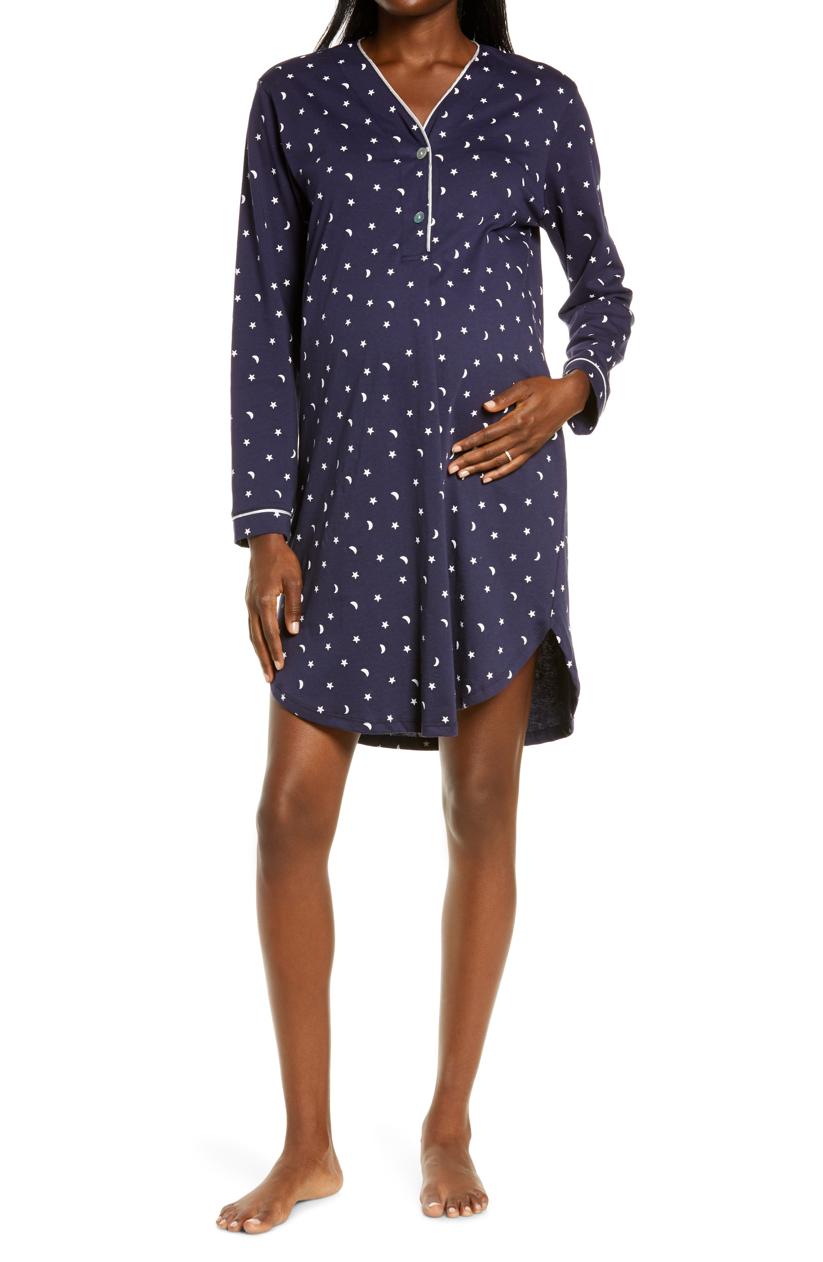 Starry Night Maternity/nursing Nightshirt
