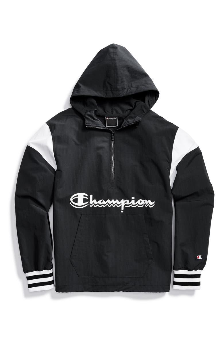 CHAMPION Manorak 2.0 Hooded Anorak, Main, color, BLACK
