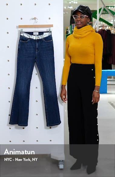 Le Pixie Metallic High Waist Flare Leg Jeans, sales video thumbnail