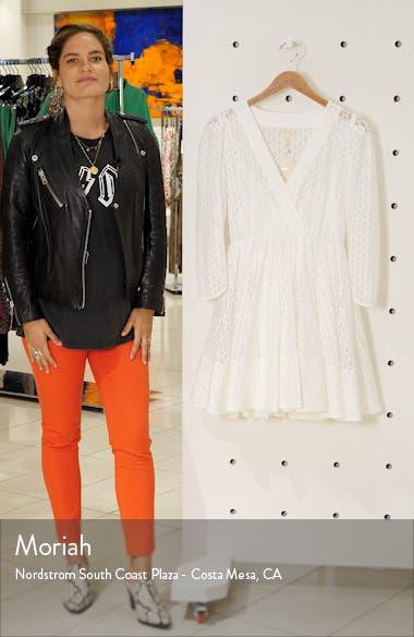 Ralina Long Sleeve Guipure Lace Dress, sales video thumbnail