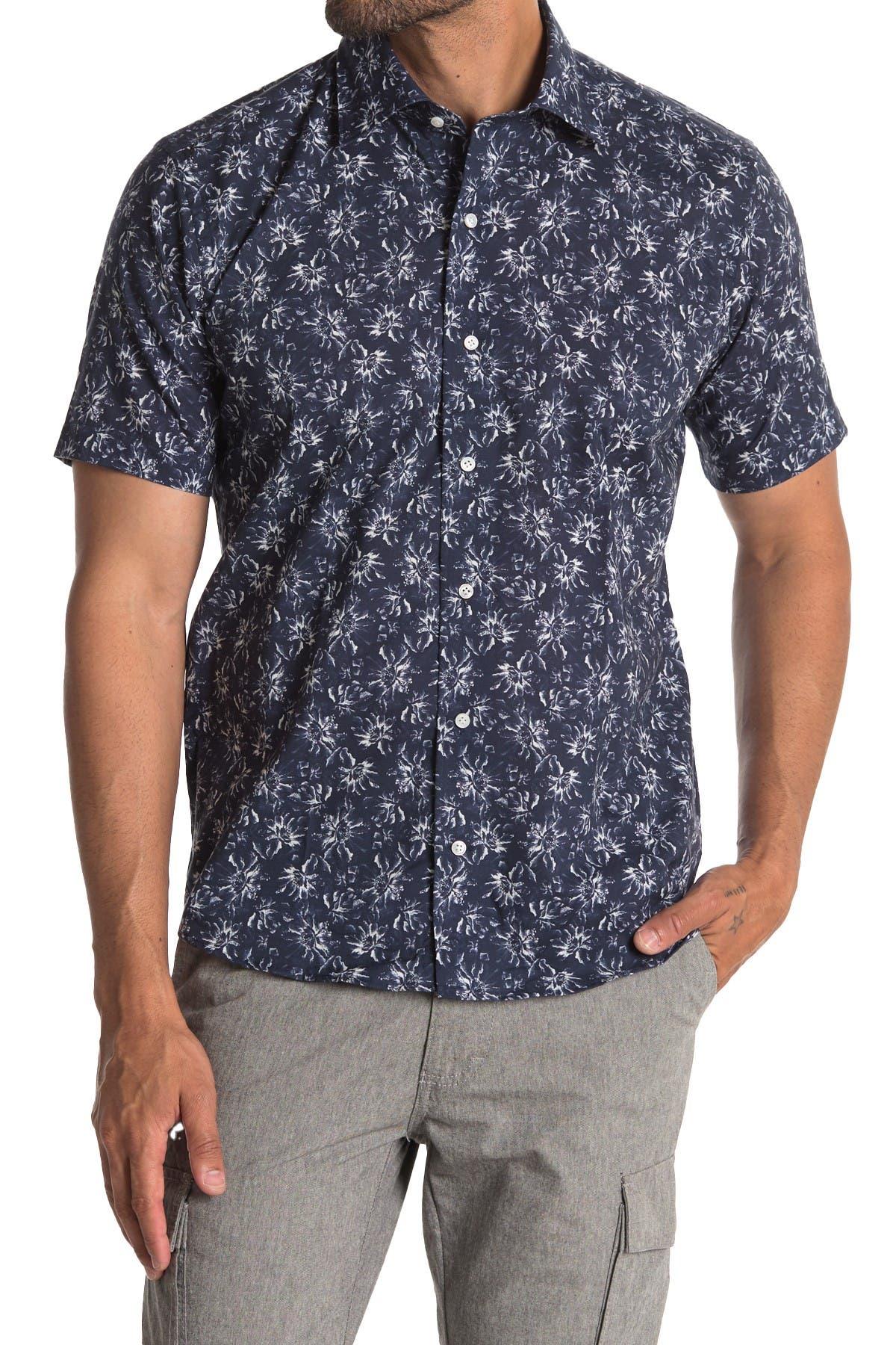Image of Peter Millar Gairdini Floral Short Sleeve Shirt