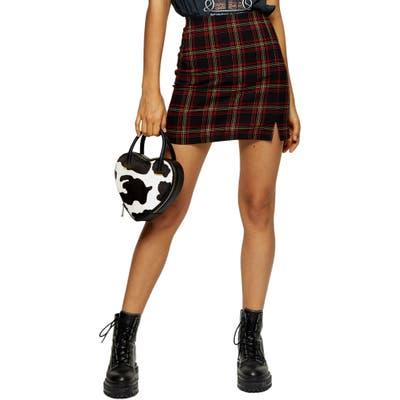 Topshop Tartan Miniskirt, US (fits like 0) - Red