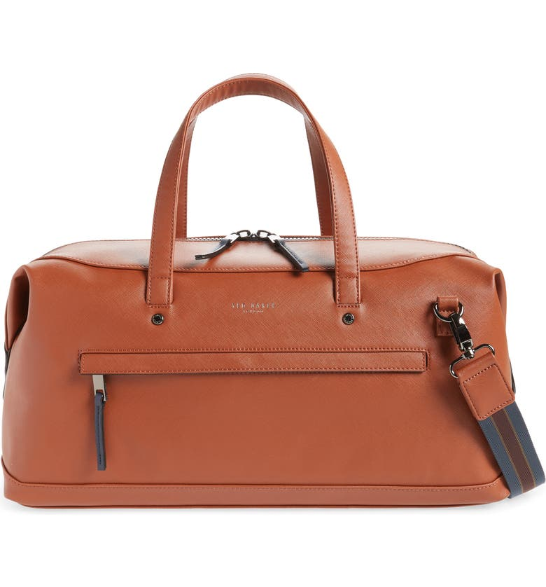 TED BAKER LONDON Patche Duffle Bag, Main, color, TAN