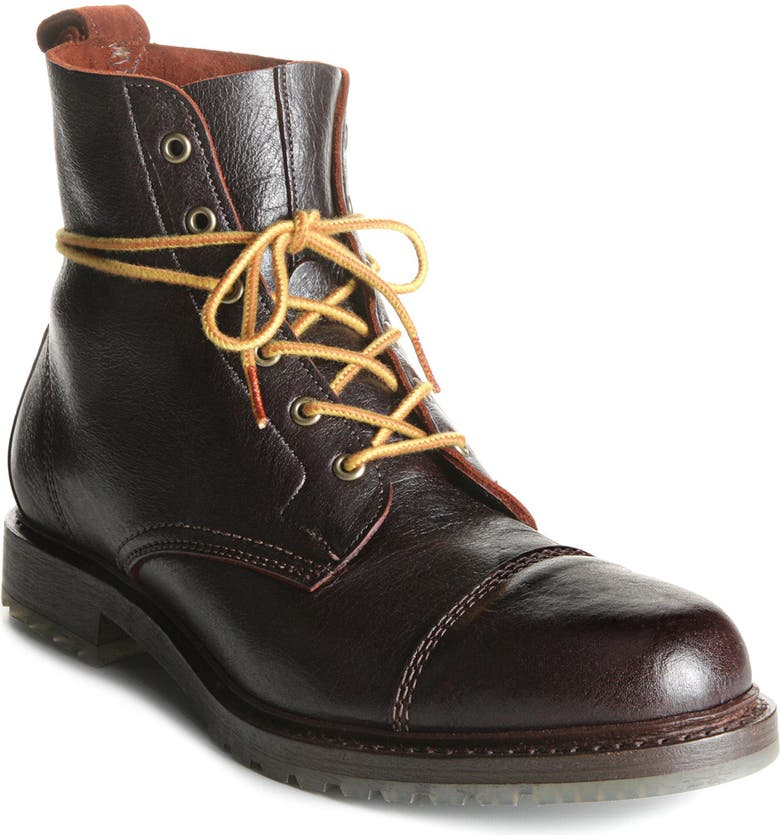 ALLEN EDMONDS Normandy Cap Toe Boot, Main, color, BROWN/BROWN