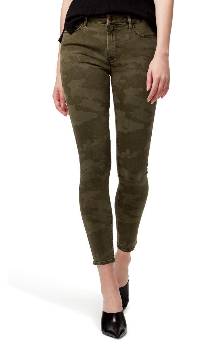 SANCTUARY Social Standard Camo High Waist Ankle Skinny Pants, Main, color, 310