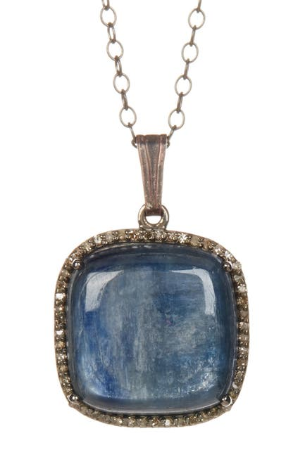Image of ADORNIA Zora Kyanite & Champagne Diamond Necklace