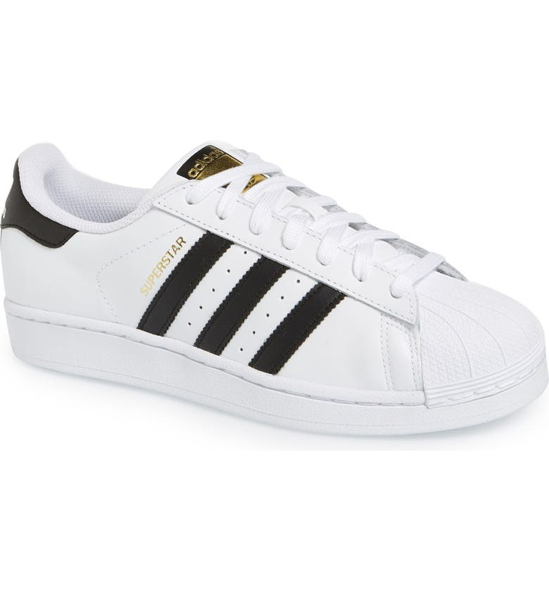 ADIDAS Superstar Foundation Sneaker, Main, color, 100