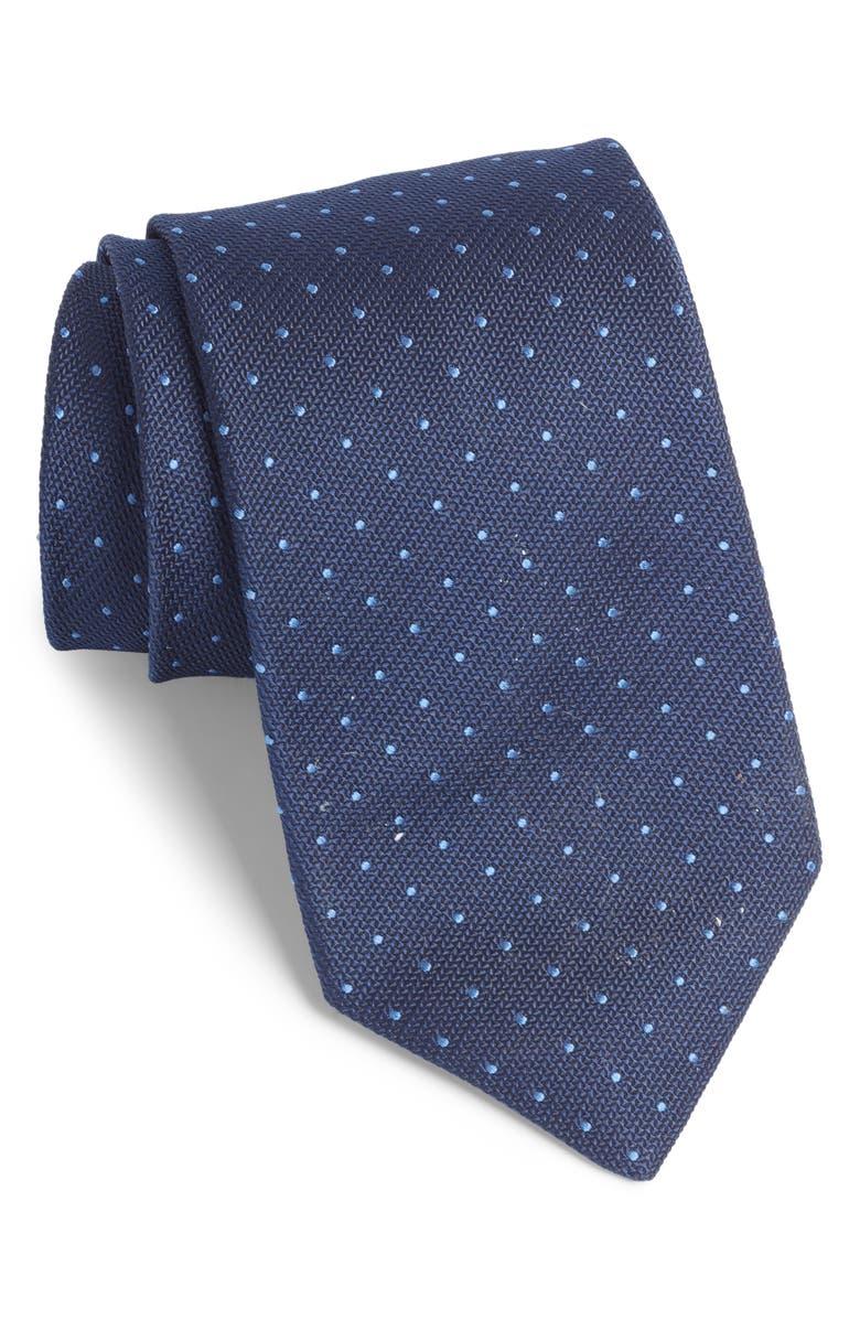 BONOBOS Pin Dot Silk Tie, Main, color, PALACE BLUE