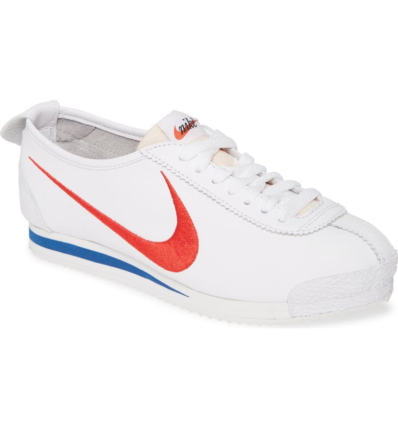 NIKE Cortez '72 S.D. Sneaker, Main, color, 100 WHITE/ VARSITY RED