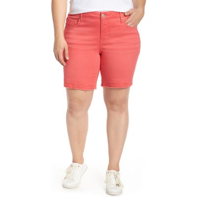 Plus Size Seven7 Weekend Bermuda Shorts, Coral