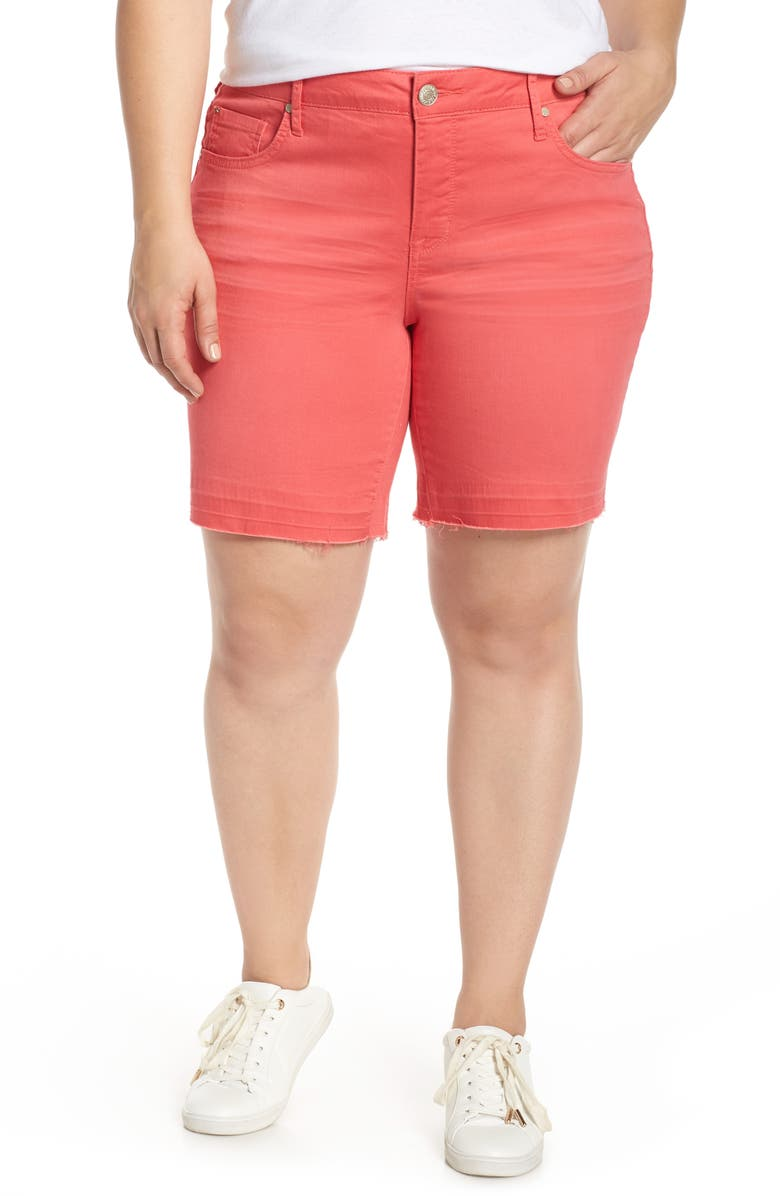 SEVEN7 Weekend Bermuda Shorts, Main, color, CAYENNE