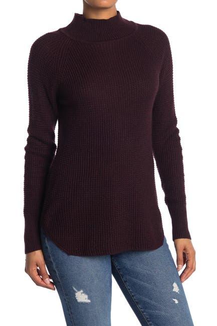 Image of Cloth By Design Mock Neck Raglan Sleeve Sweater