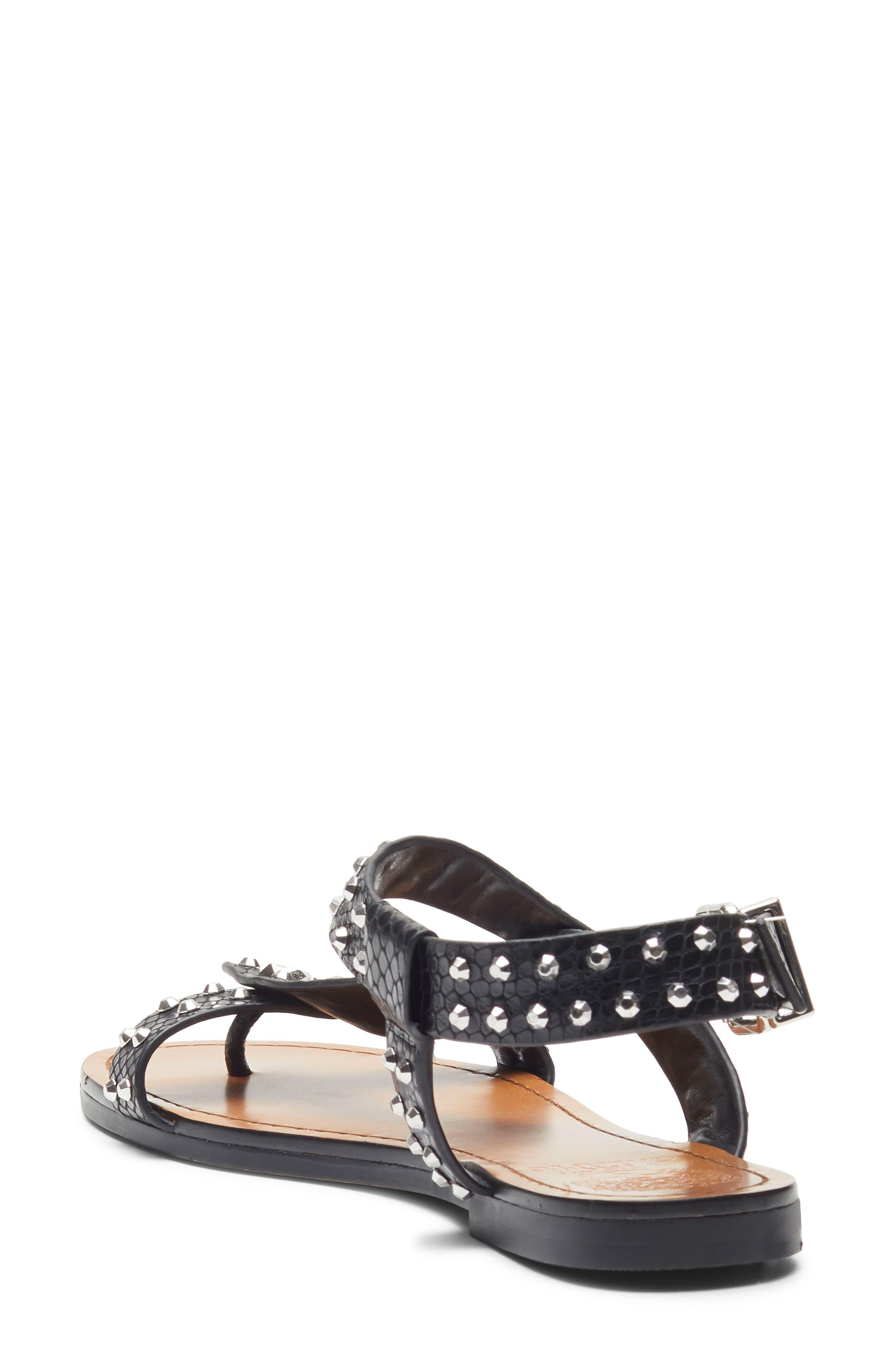 ,                             Ravensa Studded Sandal,                             Alternate thumbnail 2, color,                             BLACK LEATHER