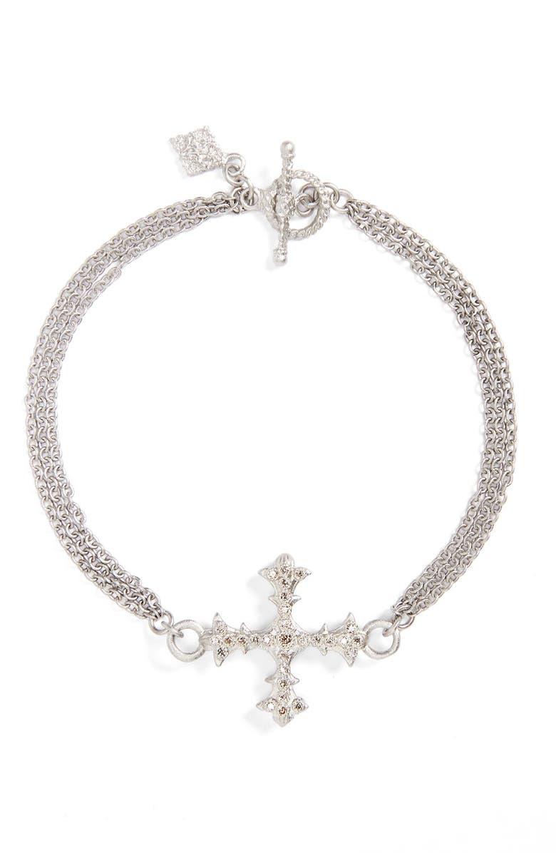 ARMENTA Old World Multistrand Diamond Bracelet, Main, color, SILVER