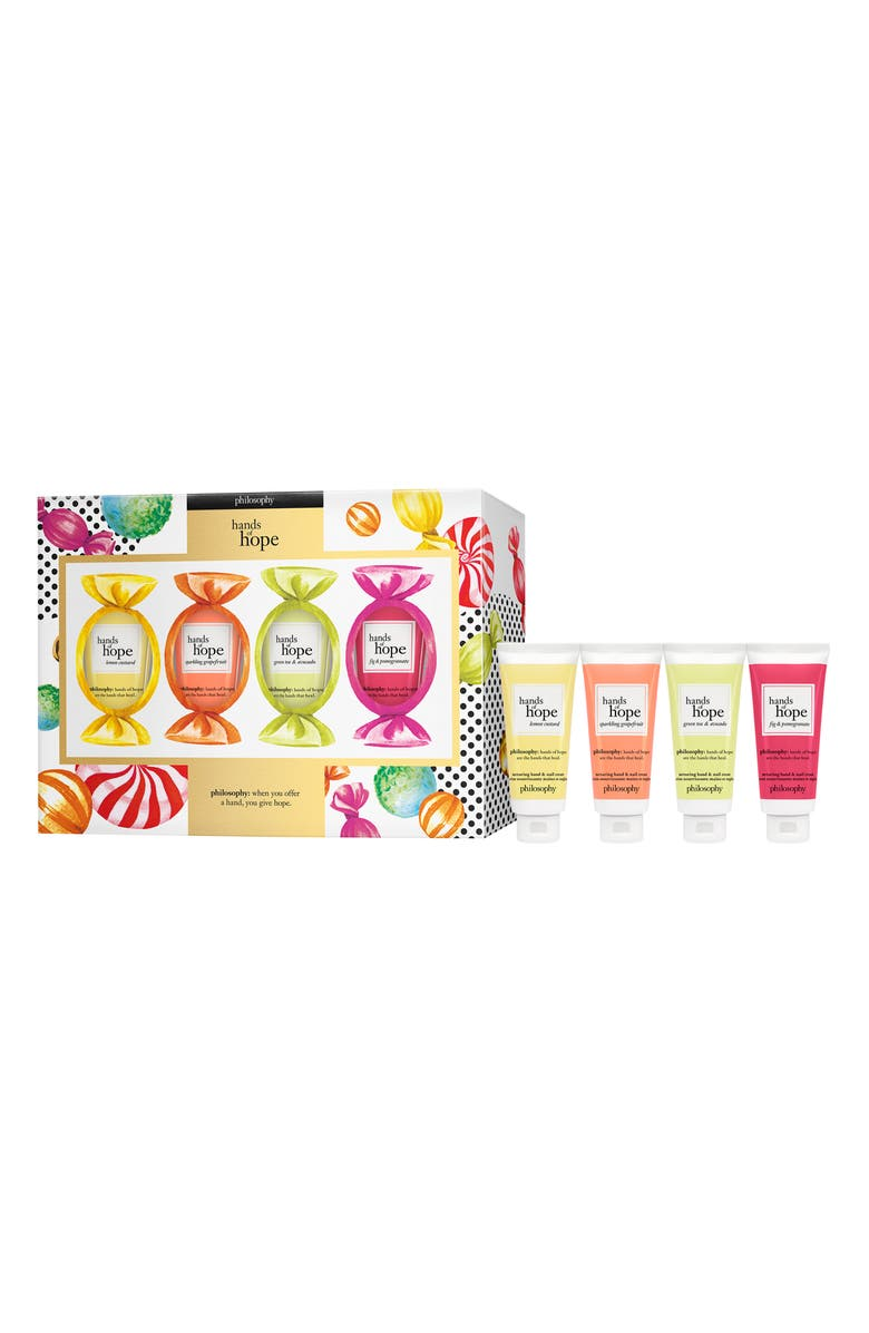 PHILOSOPHY handful of hope nurturing hand & nail cream set, Main, color, 000