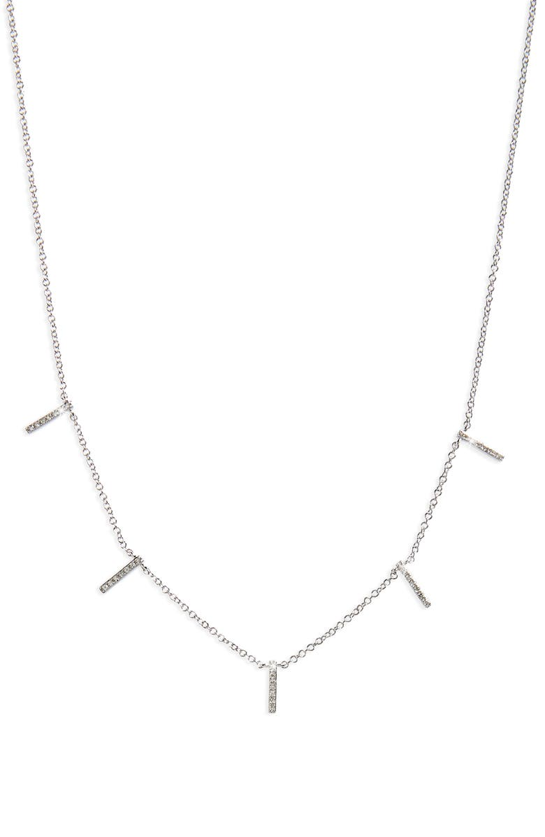 EF COLLECTION Diamond Collar Necklace, Main, color, WHITE GOLD