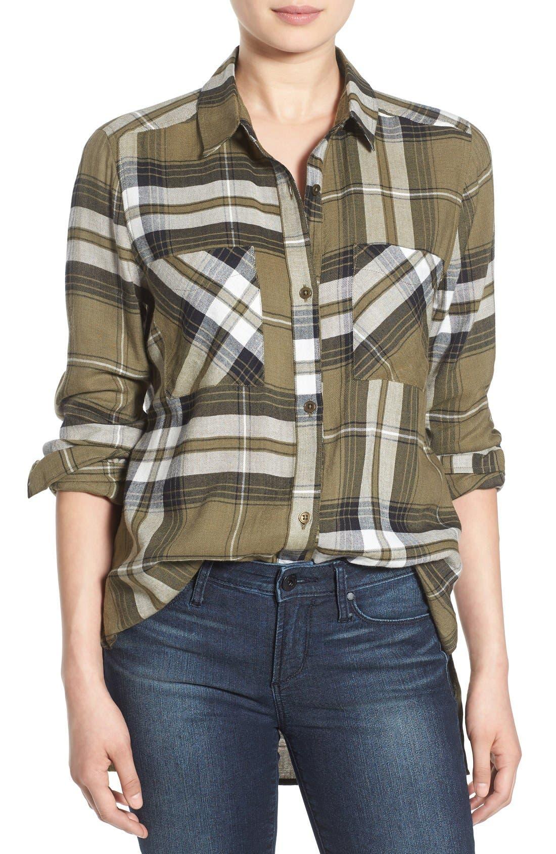 ,                             Plaid Tunic Shirt,                             Main thumbnail 20, color,                             315