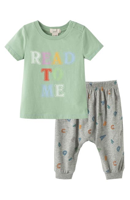 Image of PEEK ESSENTIALS Read to Me Shirt & Pant Set