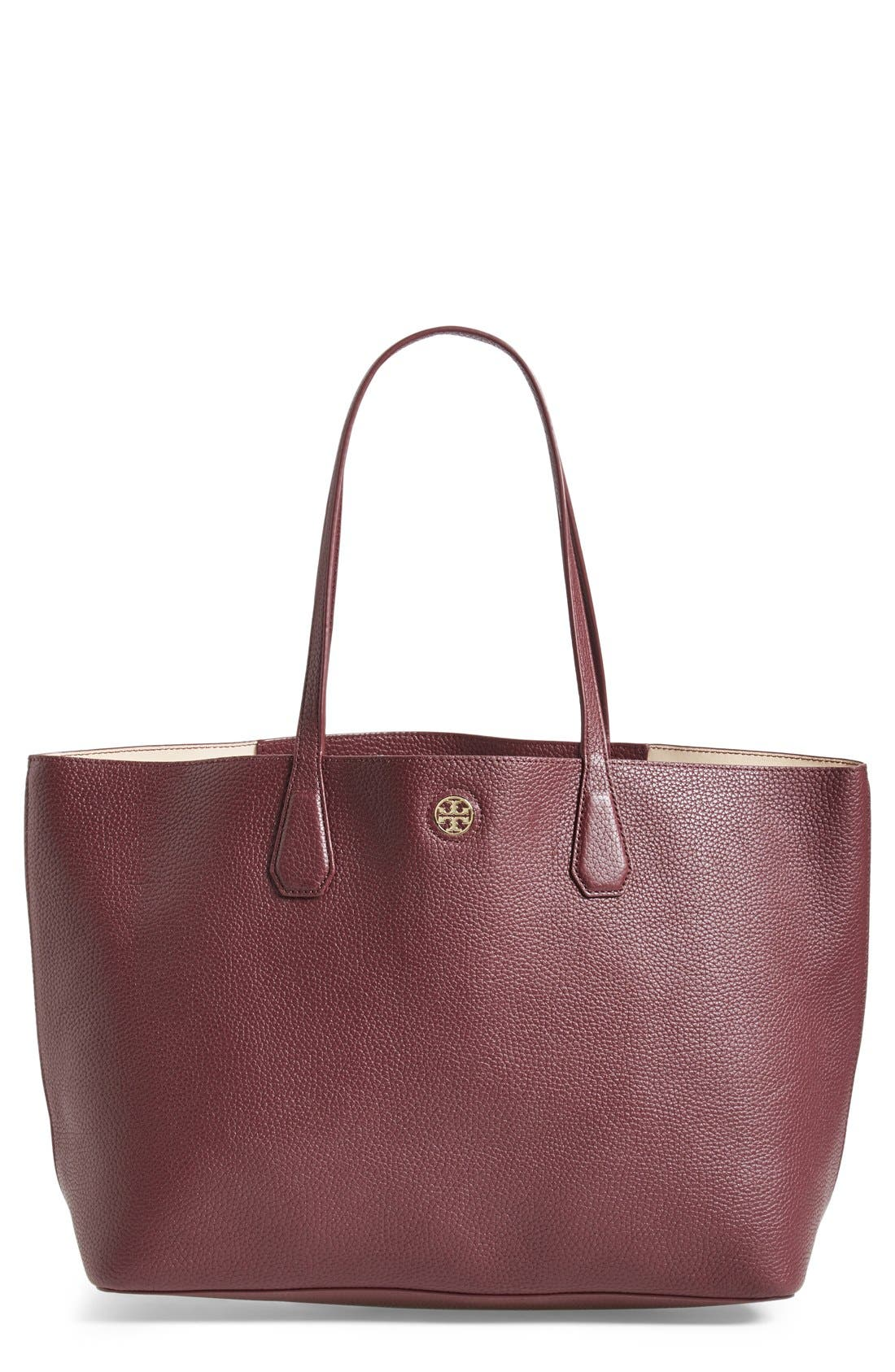 ,                             'Perry' Leather Tote,                             Main thumbnail 23, color,                             600