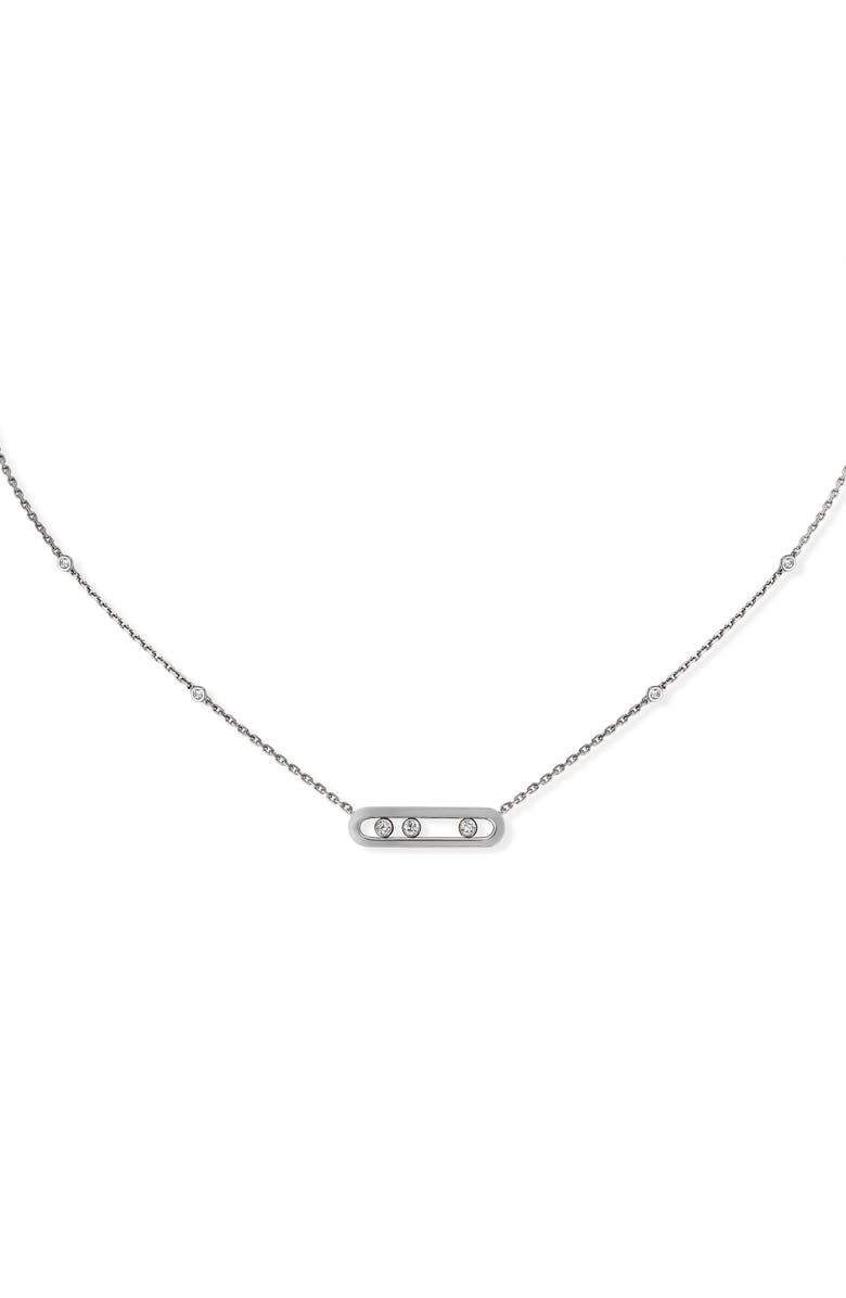MESSIKA Baby Move Pendant Necklace, Main, color, WHITE GOLD