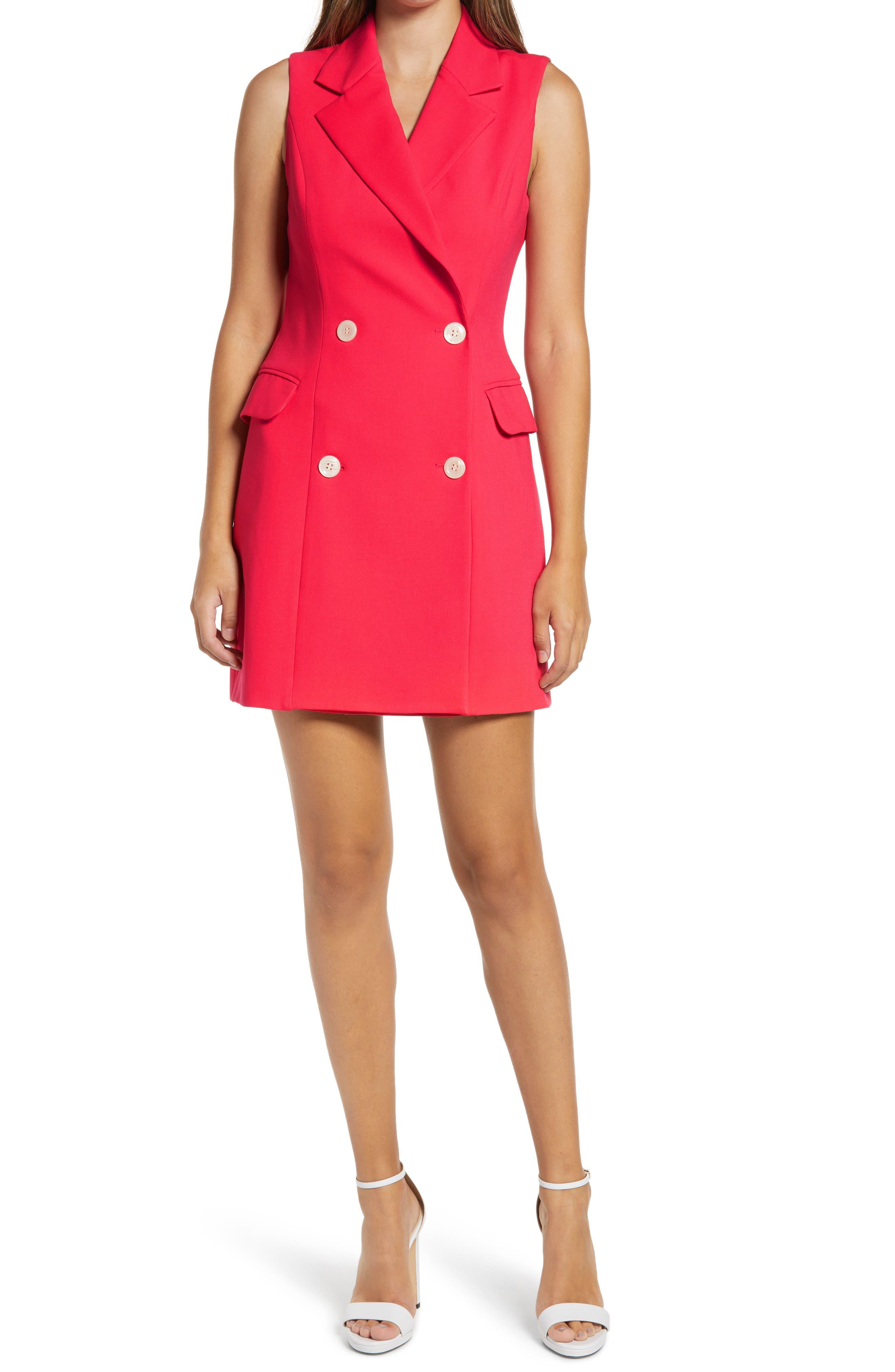 Sleeveless Blazer Minidress