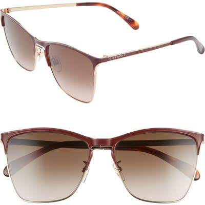 Givenchy 5m Cat Eye Sunglasses - Burg Gold/ Brown Gradient