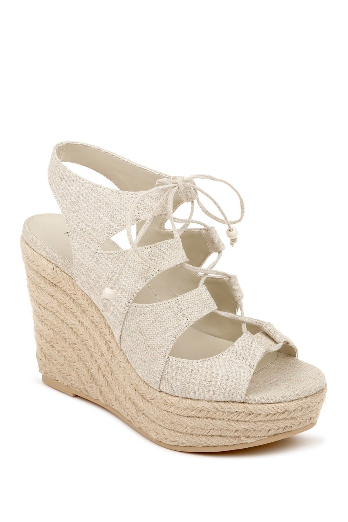 Image of Rampage Fina Ghillie Lace Espadrille Wedge
