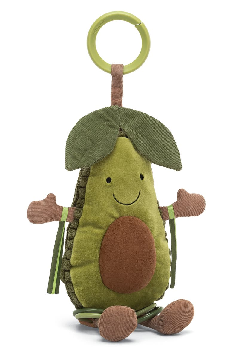 JELLYCAT Amusable Avocado Activity Toy, Main, color, GREEN