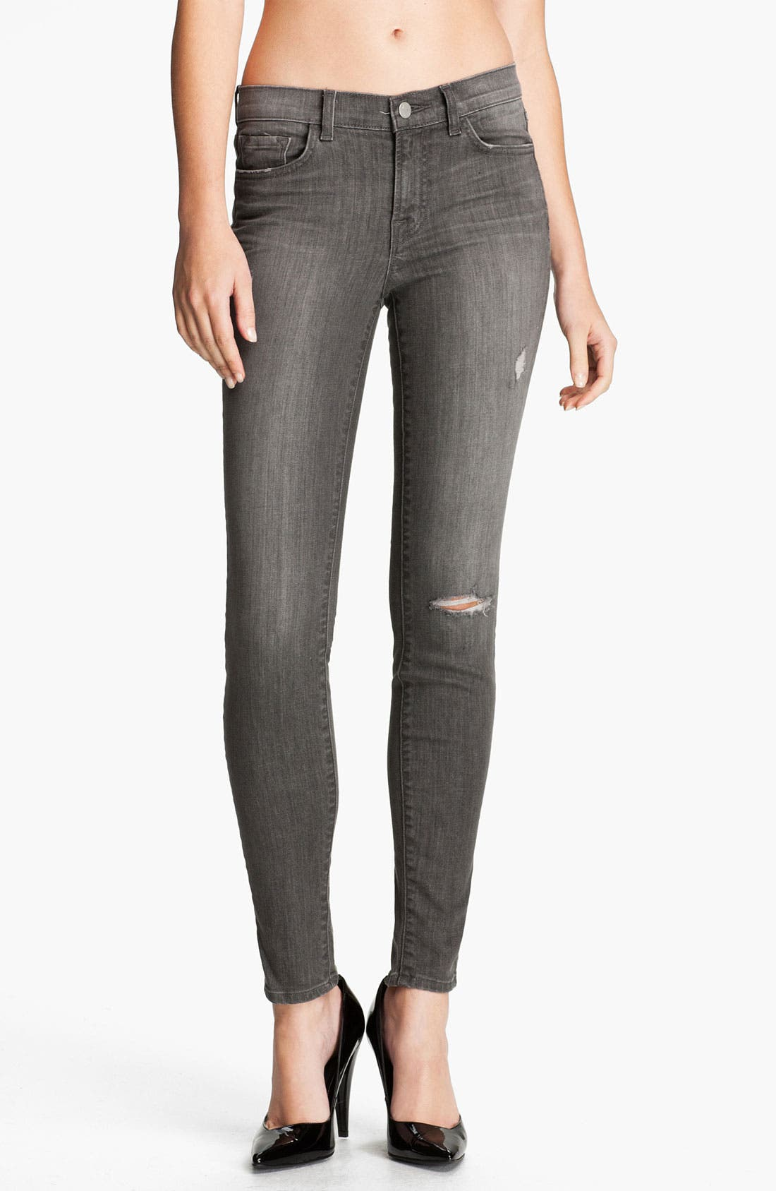 ,                             Skinny Stretch Ankle Jeans,                             Main thumbnail 7, color,                             020