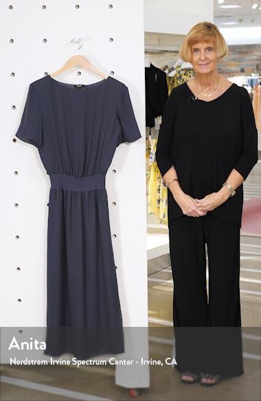 Silk Rib Waist Midi Dress, sales video thumbnail