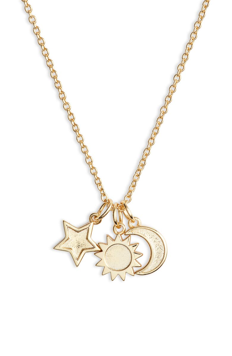 STERLING FOREVER Charm Pendant Necklace, Main, color, GOLD