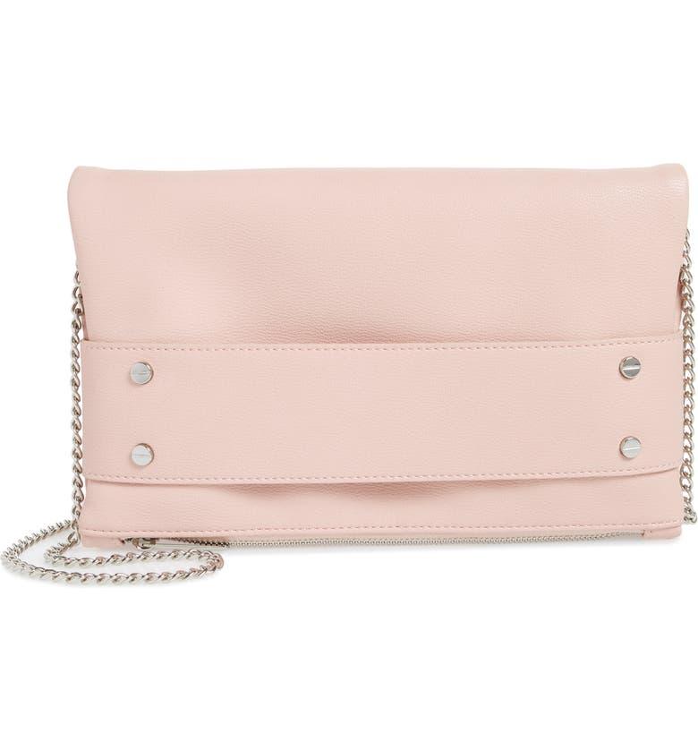 MALI + LILI Electra Vegan Leather Convertible Clutch Bag, Main, color, BLUSH