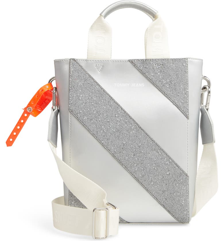 TOMMY JEANS Hype Girl Reflective Small Tote, Main, color, 020